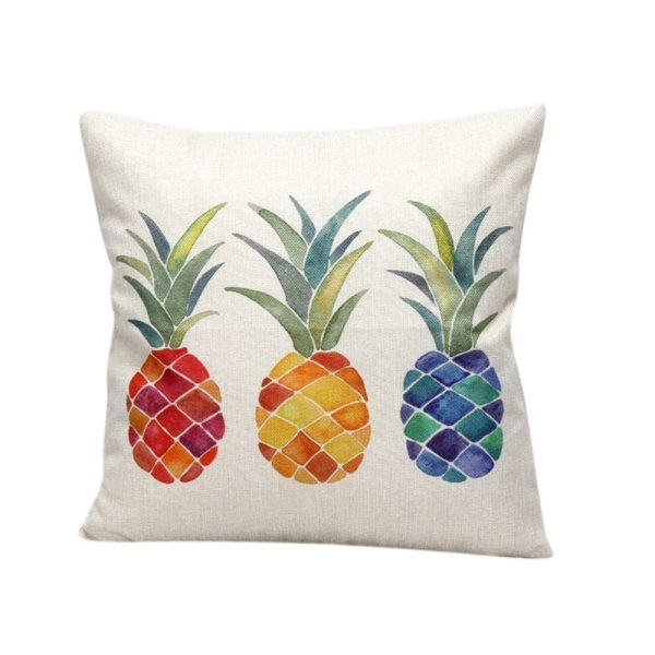 Pineapple Print Pillow Cover // 10 Geometric Print Pillow Cases Under $10.