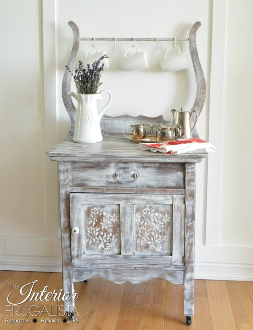 Antique Wash Stand Makeover