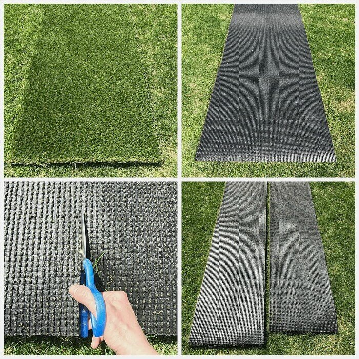 Learn how easy it is to cut and lay artificial grass for your lawn.
