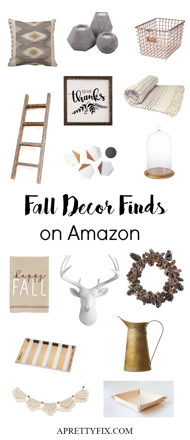 Want a fresh and cozy home this Fall? Get a Pinterest-worthy look with these Autumn decorations. From throws to candles to wall decor and more, add some modern rustic charm to your home or living room this Fall. Click through for the source list.
