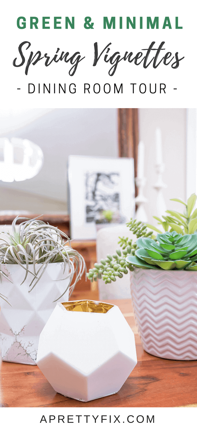 Simple Dining Room Spring Vignettes | Decorating Ideas for Spring