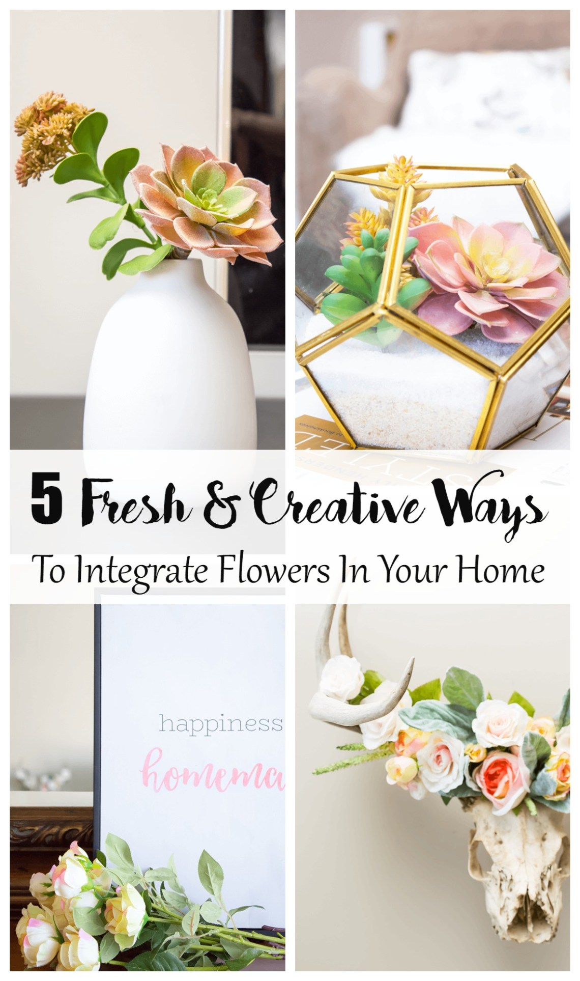 Finding fresh and creative was to decorate with flowers should not be limited to a single floral arrangement in a vase. In this post, explore fun and inspiring ways to integrate floral decor. Visit aprettyfix.com for some fresh inspiration this season!