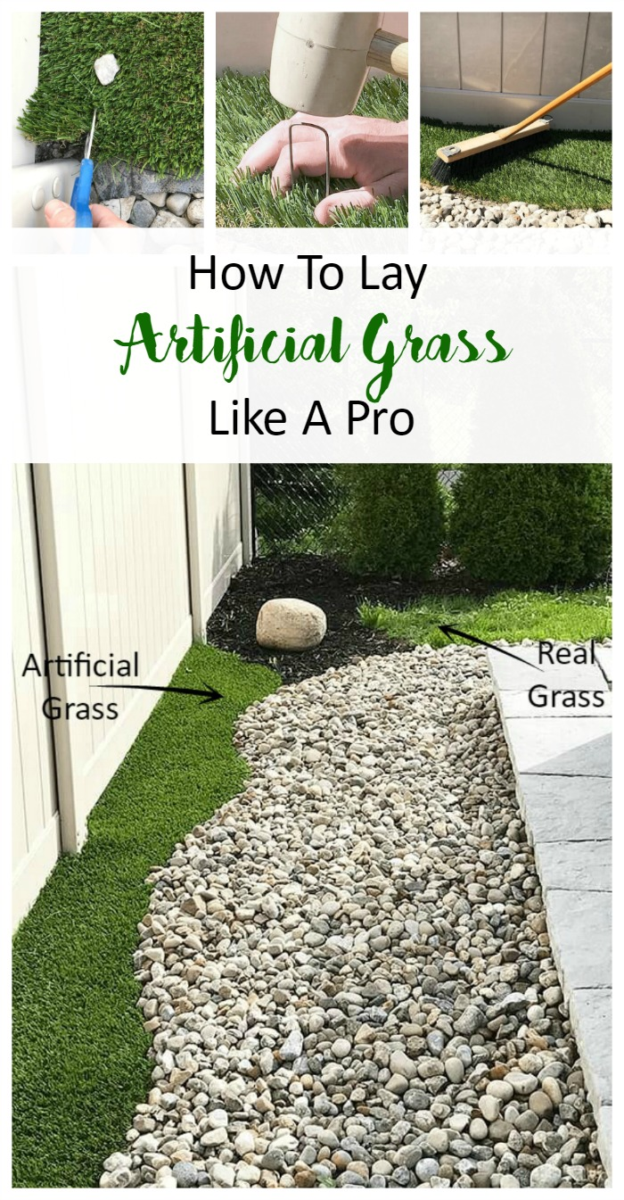 Learn just how easy it is to lay artificial grass at home. For easy maintenance for your front lawn, backyard or any outdoor living, this DIY project is simple to execute. Great for beginners.