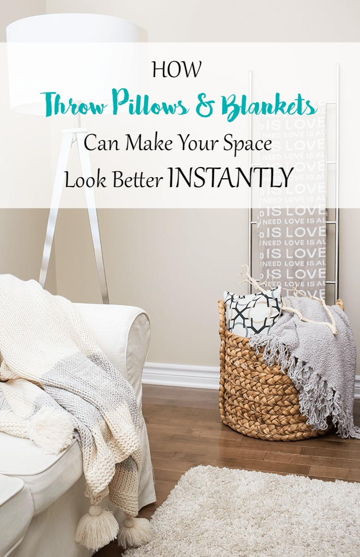 Decorating 101 How Throw Pillows And Blankets Can Make Your