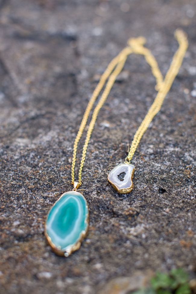 diy agate necklace