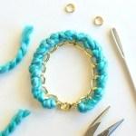 yarn-wrapped bracelet