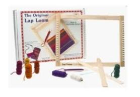 My weaving tools and supplies - Harrisville Designs weaving kit.