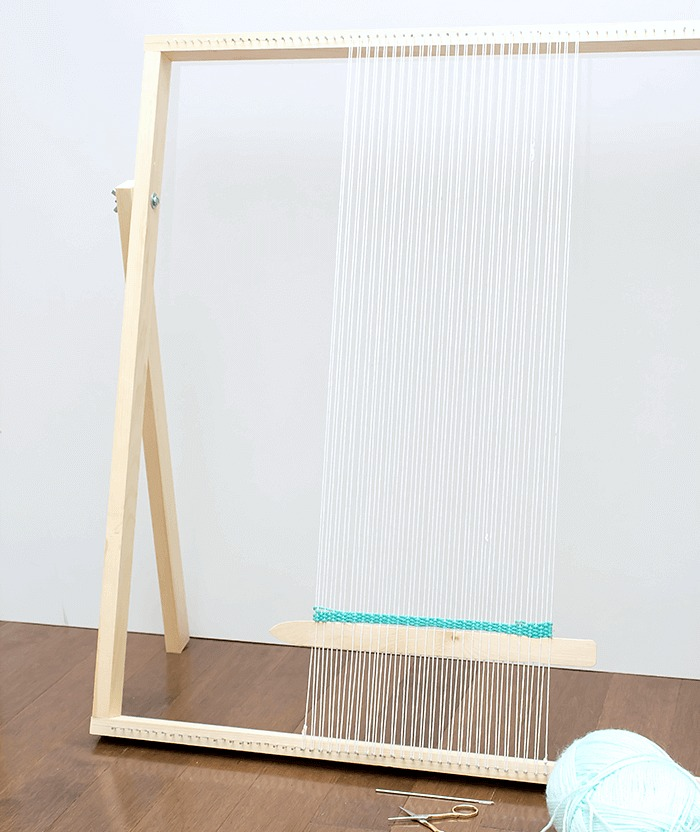 How To Make a Standing Loom With Adjustable Legs - featured image.