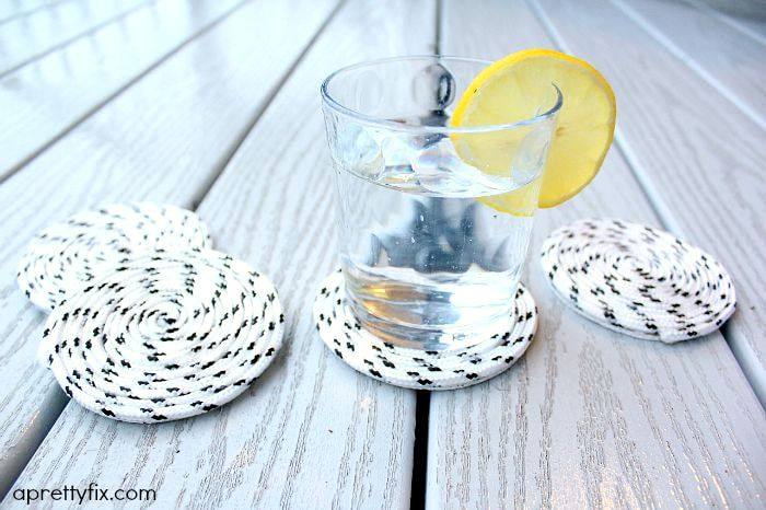 Easy-Peasy DIY Rope Coasters - Outdoor/Indoor Use.