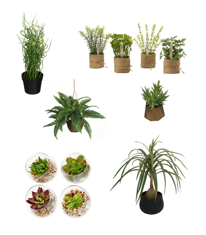 Gorgeous (faux) Greenery for under $50