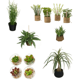 Modern, inexpensive, gorgeous (faux) greenery.