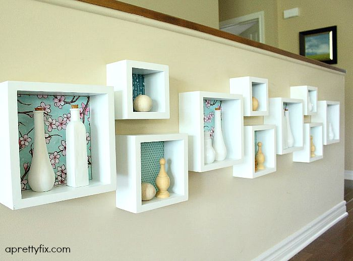 cubby wall display - floral
