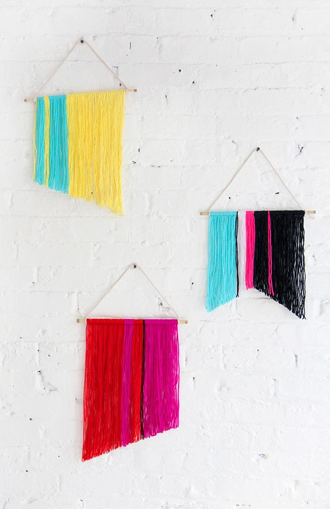 15 No Knit Yarn Crafts A Pretty Fix