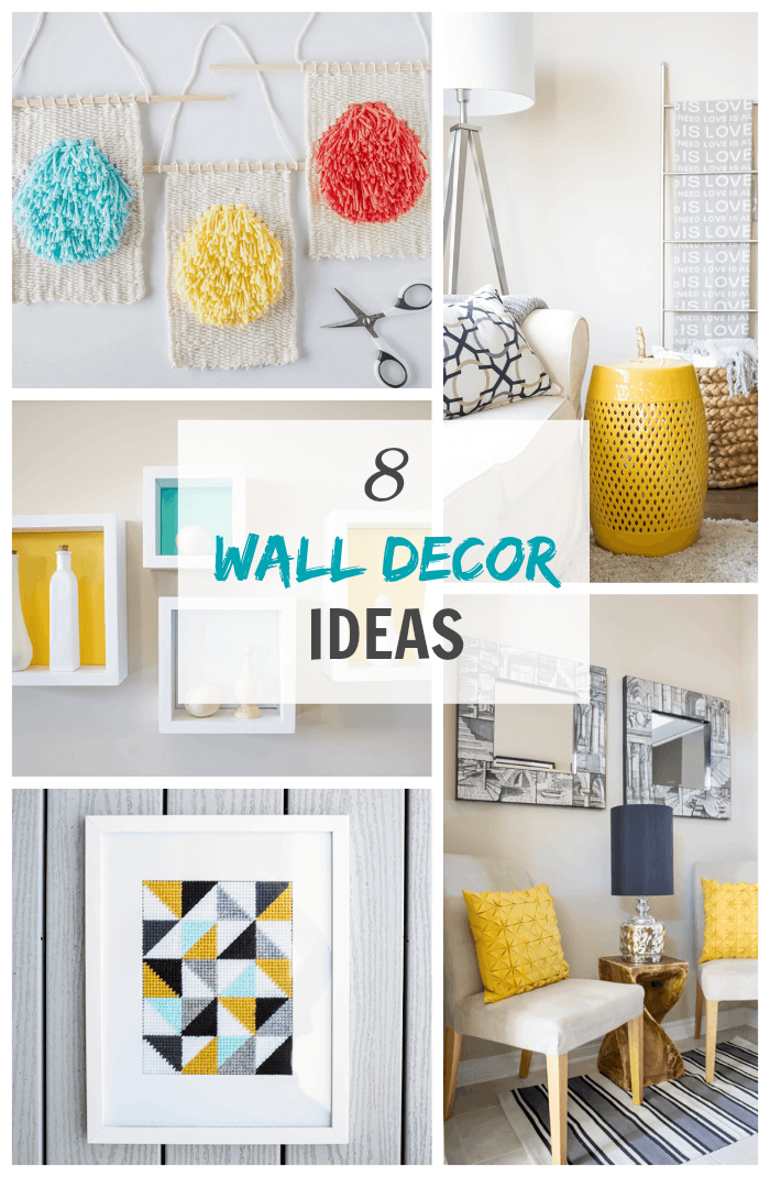 Get inspired by these 8 wall decor ideas chalk full of crafty and stylish alternatives to traditional wall art. There's no better way to personalize a home!