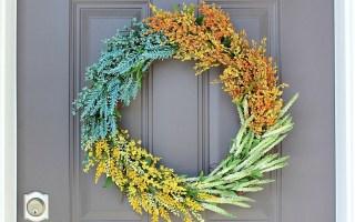 DIY (faux) Wildflower Wreath