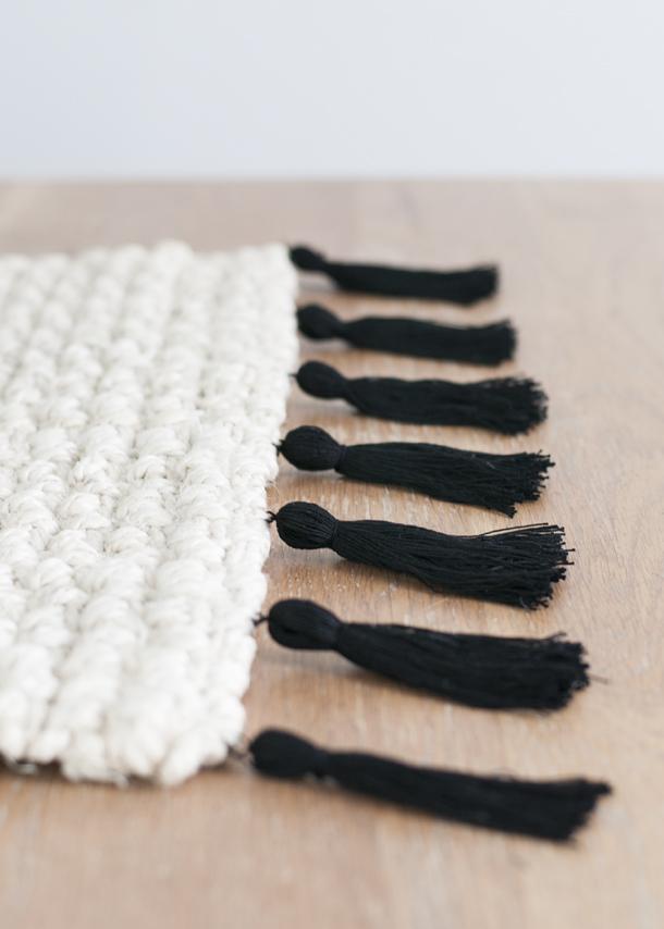tassel fringe rug