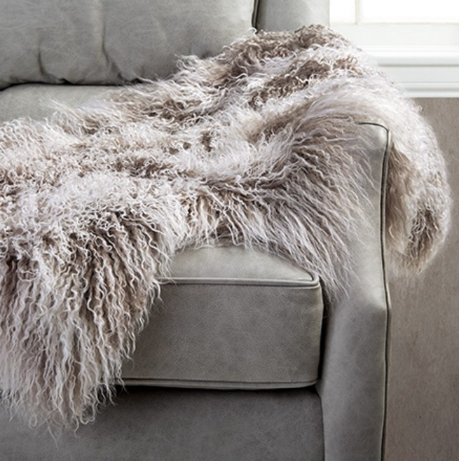 Dream Living Room - Tibetan Wool Throw // www.arhaus.com