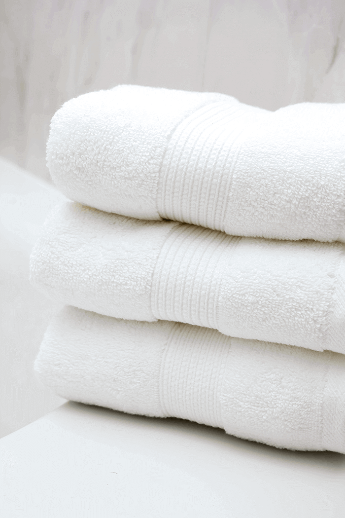 white, fluffy towels