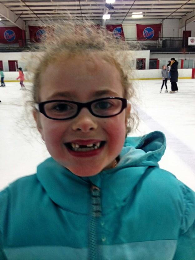 Ice skating happiness