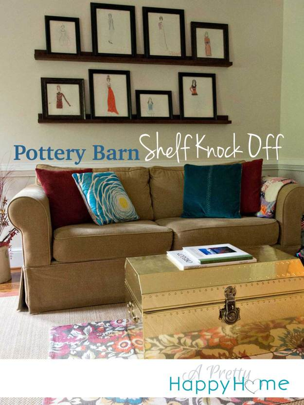 Pottery Barn Shelf Knock Off