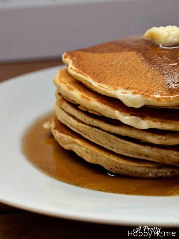 stack of pancake syrup