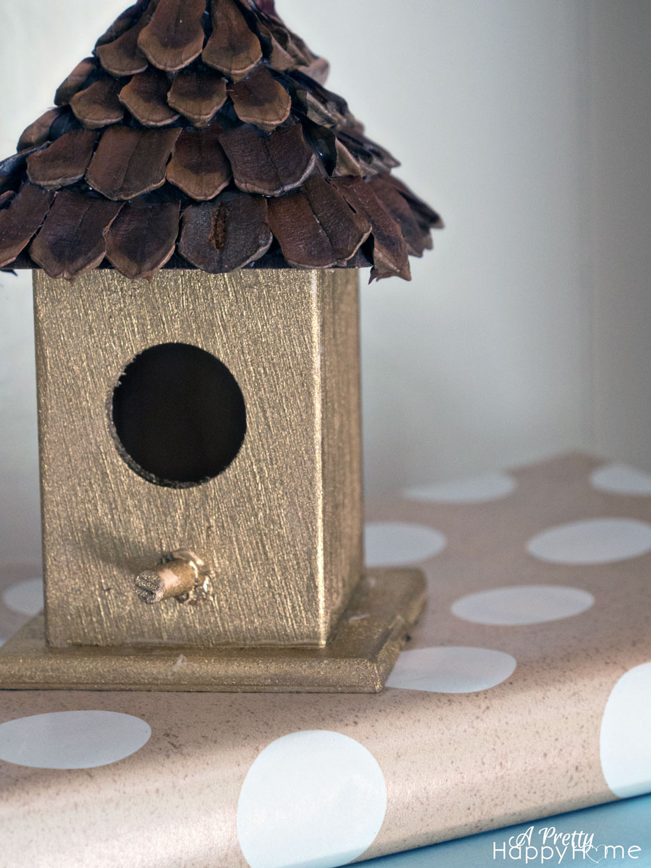 Pine Cone Roof Birdhouse A Pretty Happy Home