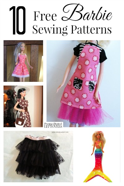 It is a graphic of Clean Free Printable Barbie Clothes Sewing Patterns
