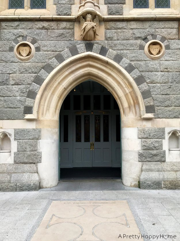 not catholic - church door