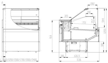 Холодильная витрина Siena Cube 1.1-1.0 2