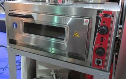 Печь электрическая для пиццы. Корпус печи изготовлен из высококачественной нержавеющей стали. Дно печи выложено специальными керамическими плитами. Сделать заказ на apricot.