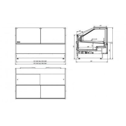Холодильная витрина кубическая GRACIA (Грация) D 1.25 для хранения суточной нормы продуктов. Купить D 0.94 на ubc.apricot.