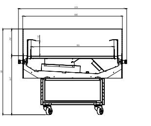 Чертеж холодильной витрины гастрономической Diana Cube 1.875 для хранения суточной нормы продуктов. Купить Diana Cube 1.875 на ubc.apricot.