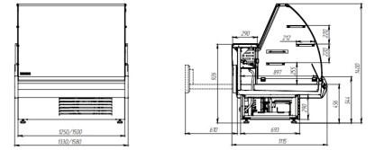 Холодильная витрина кондитерская Muza К 1.25 для хранения и демонстрации кондитерских изделий. Купить Muza К 1.25 на ubc.apricot.