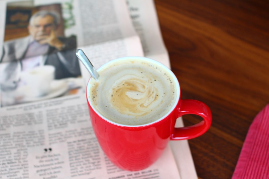 Sunday Morning Coffee with a side of newspaper