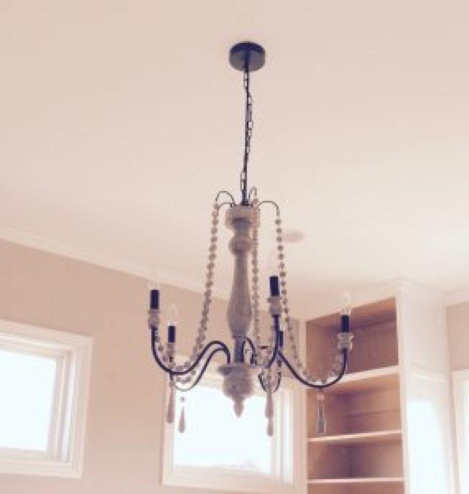 best beaded wooden chandelier