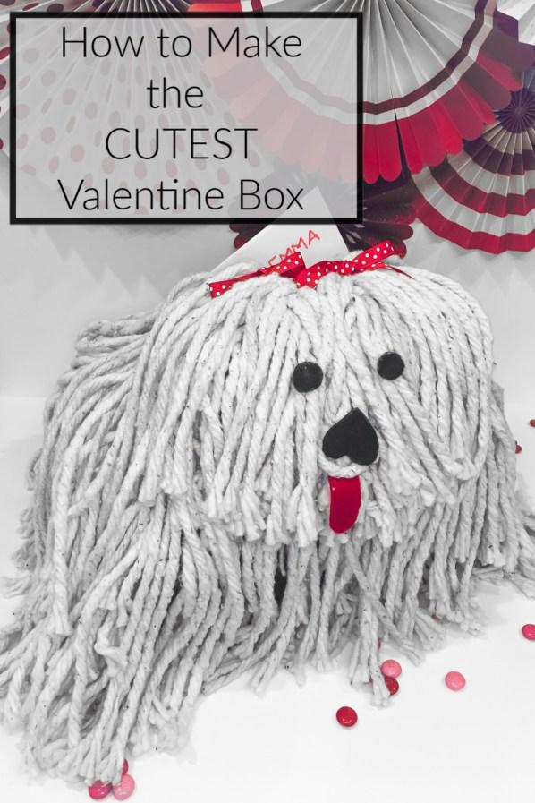 How to make a puppy Valentine box