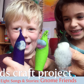 Kids Make Wool Felt Gnomes Craft Project on aprileight.com