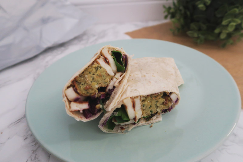 Falafel & Halloumi Wraps