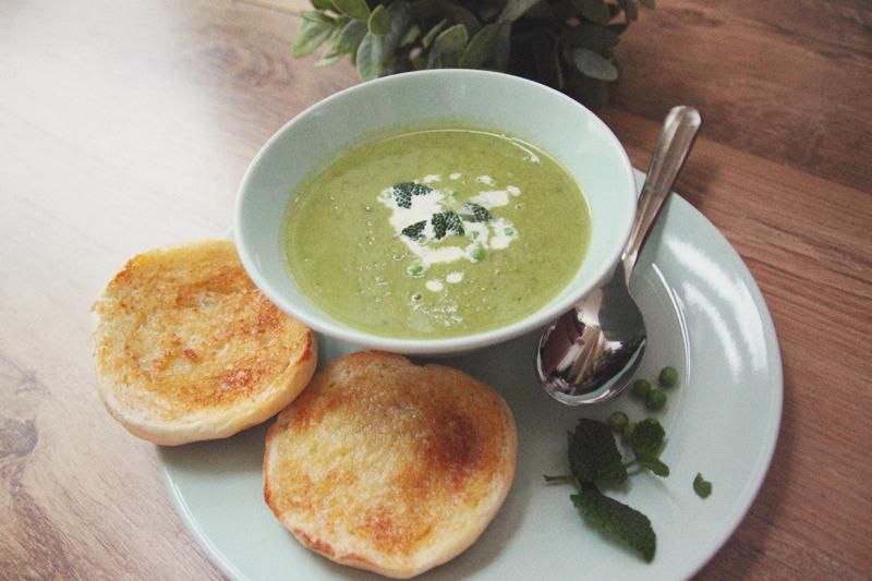 Pea & Mint Soup // aprileveryday.com