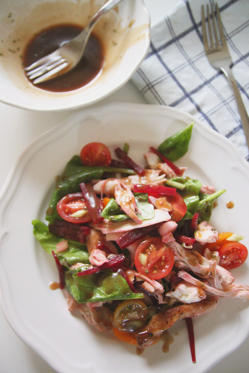 Chicken, Beetroot & Mozarella Salad