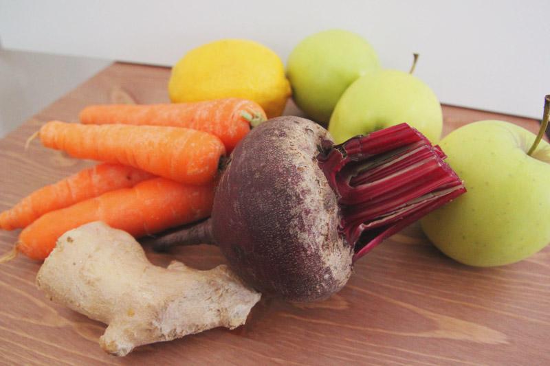Beetroot, Apple, Carrot, Lemon & Ginger Juicing Recipe