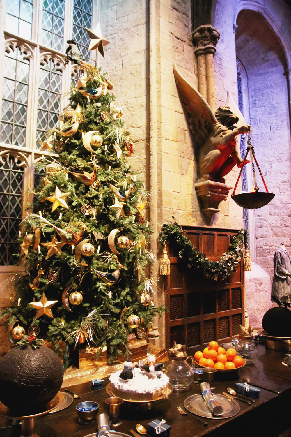 Harry Potter Warner Bros Studio Tour London Hogwarts in the SnowGreat Hall