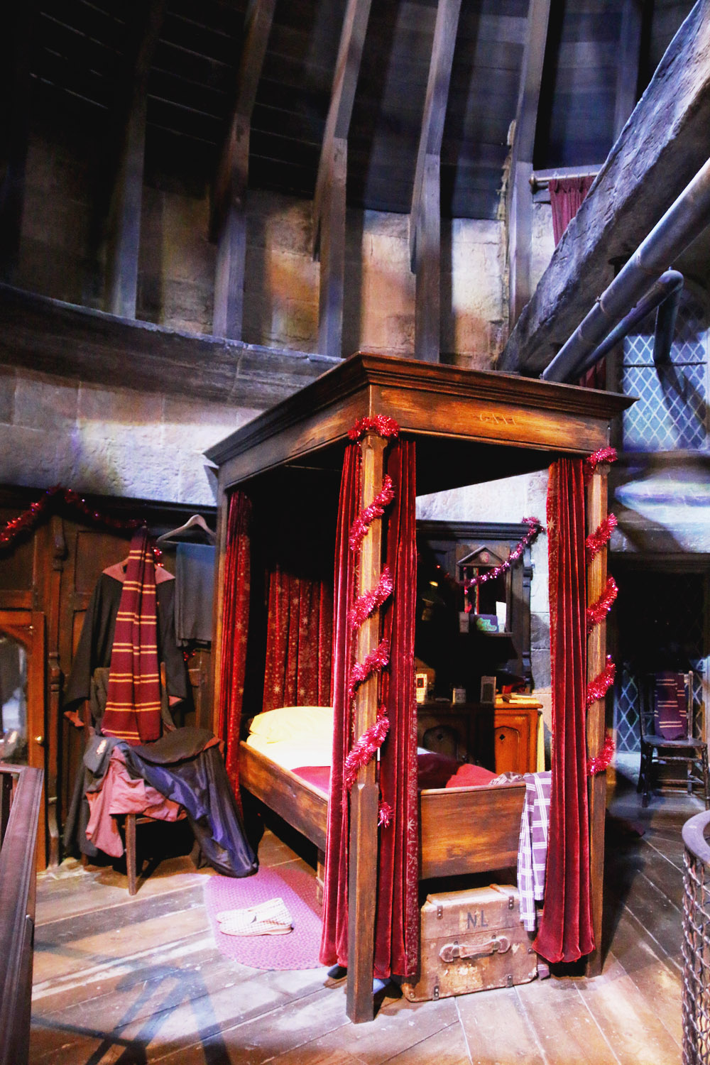 Harry Potter Warner Bros Studio Tour London Gryffindor Dormitory