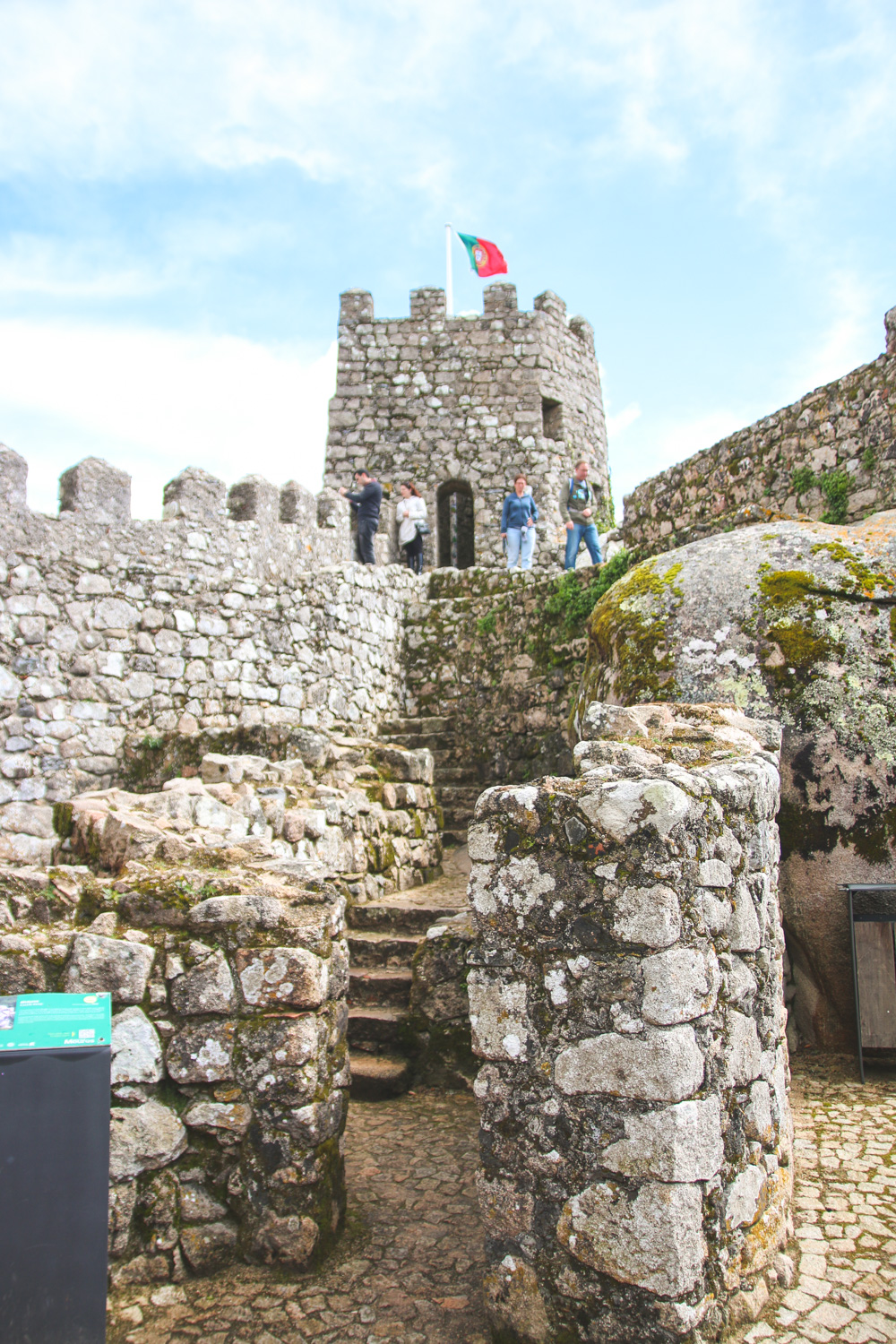 Moorish Castle Walls in Sintra, Portugal