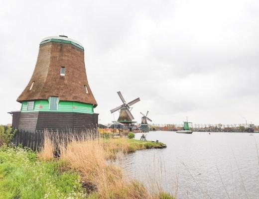 Windmills at Zaanse Schans, Holland, The Netherlands