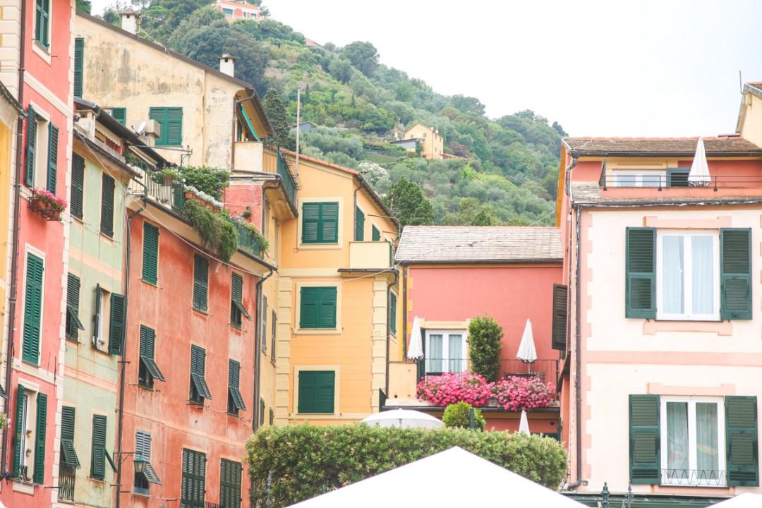 The Main Square in Portofino, Liguria, Italy.