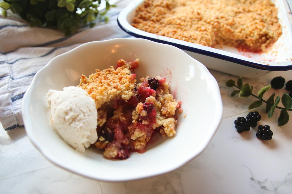 Apple and Blackberry Crumble Recipe