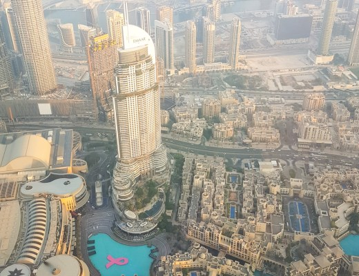 View from At The Top, Burj Khalifa at Sunset