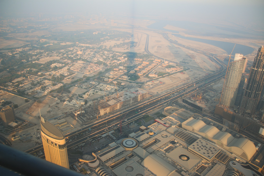 View at Sunset from At The Top, Burj Khalifa