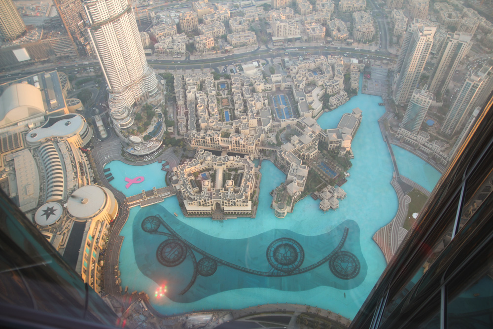Dubai Fountain from At The Top, Burj Khalifa